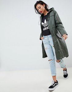 Read more about Asos design wax look raincoat - khaki
