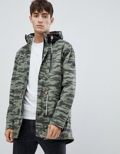 Read more about Parka london taped seam camo print parka - green