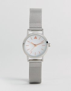 Read more about Asos mini silver mesh watch - silver