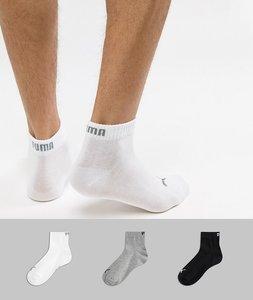 Read more about Puma 3 pack quarter socks in multi 271080001882 - multi