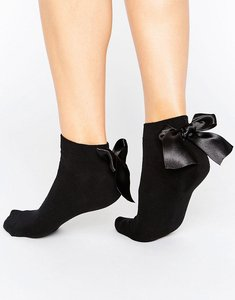 Read more about Asos oversized bow back trainer sock - black