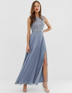 Read more about Asos design maxi dress with sleeveless embellished bodice