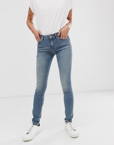Read more about Selected femme regular waist mid wash blue skinny jeans