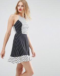 Read more about Asos halter mix print stripe sundress - multi