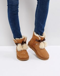 Read more about Ugg gita bow chestnut boots - chestnut