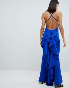 Read more about City goddess waterfall back maxi dress - cobalt blue