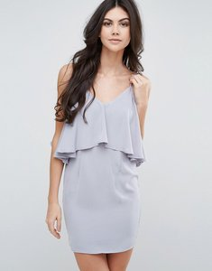 Read more about Love other things frill overlay cami dress - grey