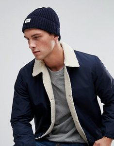 Read more about Esprit ribbed fisherman beanie in navy - 400 navy