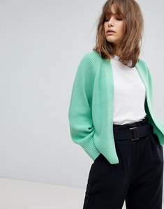 Read more about Asos design eco chunky cardigan in soft yarn - mint