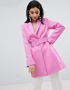 Read more about Asos design longline belted blazer - pink