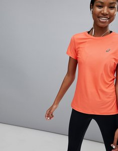 Read more about Asics running short sleeve tee in coral - pink