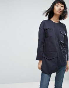 Read more about Asos white multi pocket tunic - navy