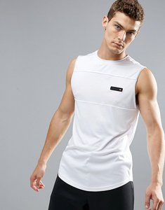 Read more about Ellesse sport vest with mesh panel in white - white