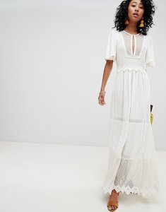 Read more about Cleobella boho lace and mesh maxi dress - ivory
