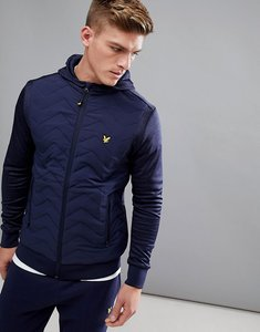 Read more about Lyle scott fitness oates hooded zip through jacket in navy - navy