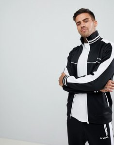 Read more about Diesel s-roots side stripe track jacket black co-ord - black