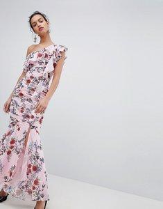 Read more about Keepsake one shoulder floral maxi dress - powder pink floral