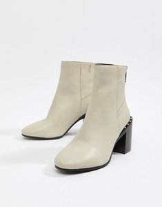 Read more about Asos design everett leather ankle boots - bone leather