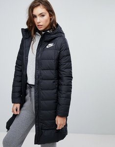 Read more about Nike down filled long padded parka jacket - black black white