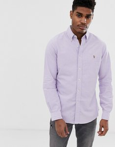 Read more about Polo ralph lauren multi player logo button down oxford shirt slim fit in lilac