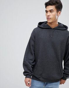Read more about Asos oversized hoodie in charcoal marl - charcoal marl