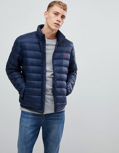 Read more about Polo ralph lauren lightweight down puffer jacket player logo in navy - aviator navy