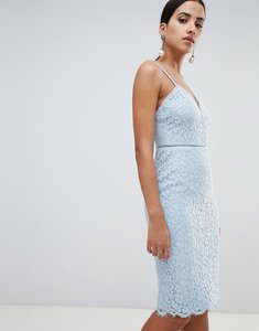 Read more about Missguided cami strap lace midi dress - blue
