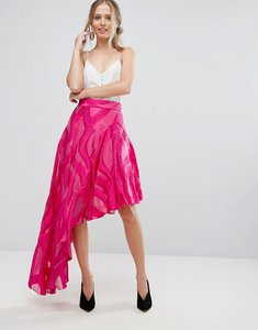 Read more about Coast jacquard asymetric skirt - pink