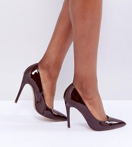 Read more about Asos paris wide fit pointed high heels - espresso
