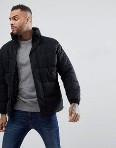 Read more about Schott nebraska heavy puffer jacket concealed hood in black - black