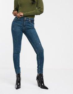 Read more about Bershka skinny 5 pocket jean in dark blue