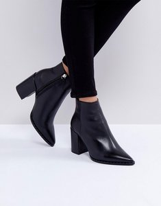 Read more about Asos establish leather studded boots - black