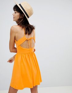 Read more about Asos mini strappy back skater sundress - orange