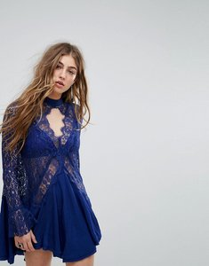 Read more about Free people tell tale tunic dress - navy