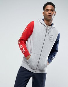 Read more about Tommy hilfiger denim full zip hoodie colorblock printed sleeves in grey marl - grey marl