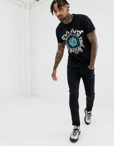 Read more about Versace jeans t-shirt in black with green chest print