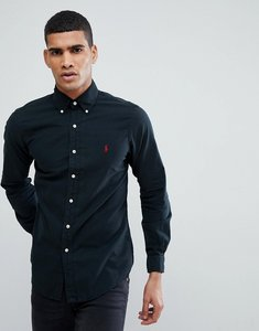 Read more about Polo ralph lauren slim fit garment dyed shirt polo player in black - black