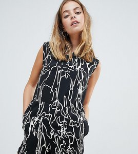 Read more about Noisy may petite abstract floral print playsuit - floral linear