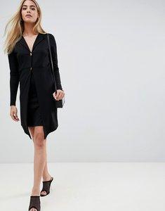 f3ceb4c55d3d asos design ultimate tux mini dress with gold buttons black - Shop ...
