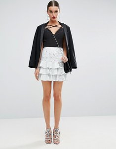 Read more about Asos sequin rara mini skirt - white