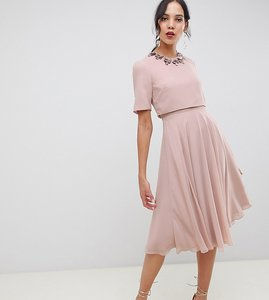 Read more about Asos design tall midi dress with 3d embellished neckline