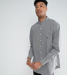 Read more about Polo ralph lauren tall gingham check shirt buttondown in black - black white