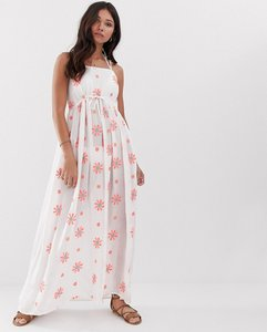 Read more about Anmol floral embroidered maxi beach dress with floral embellishment