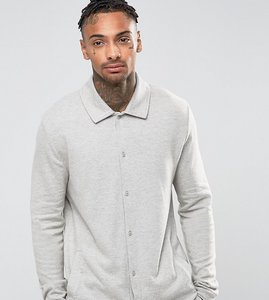 Read more about Asos pyjama shirt in brushed woven texture - grey