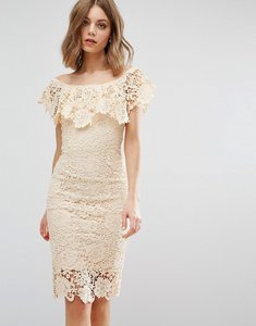 Read more about Paper dolls off shoulder midi dress - cream
