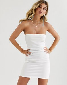 Read more about Fashionkilla going out bandeau mini dress in white
