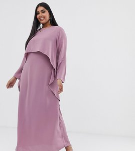 Read more about Verona curve long sleeved layered dress in dusty rose