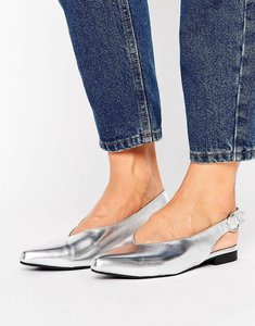 Read more about New look metallic slingback shoe - silver