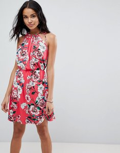 Read more about Asos mini drapey sundress in floral print - floral print