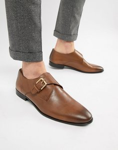 Read more about Kg by kurt geiger single monk shoes in brown - tan